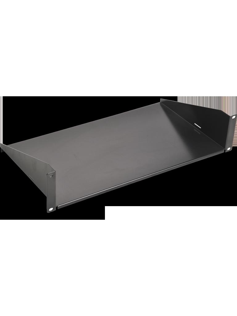 SAXXON BR10 - Charola para racks y gabinetes de 10 x 19  / 2UR / Capacidad 22  Kg