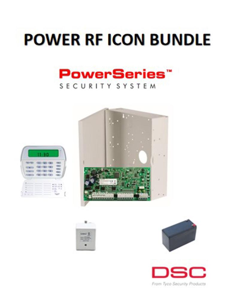 DSC PWRRFIBPAQ - Paquete Power RF ICON Bundle Inalámbrico o Cableado