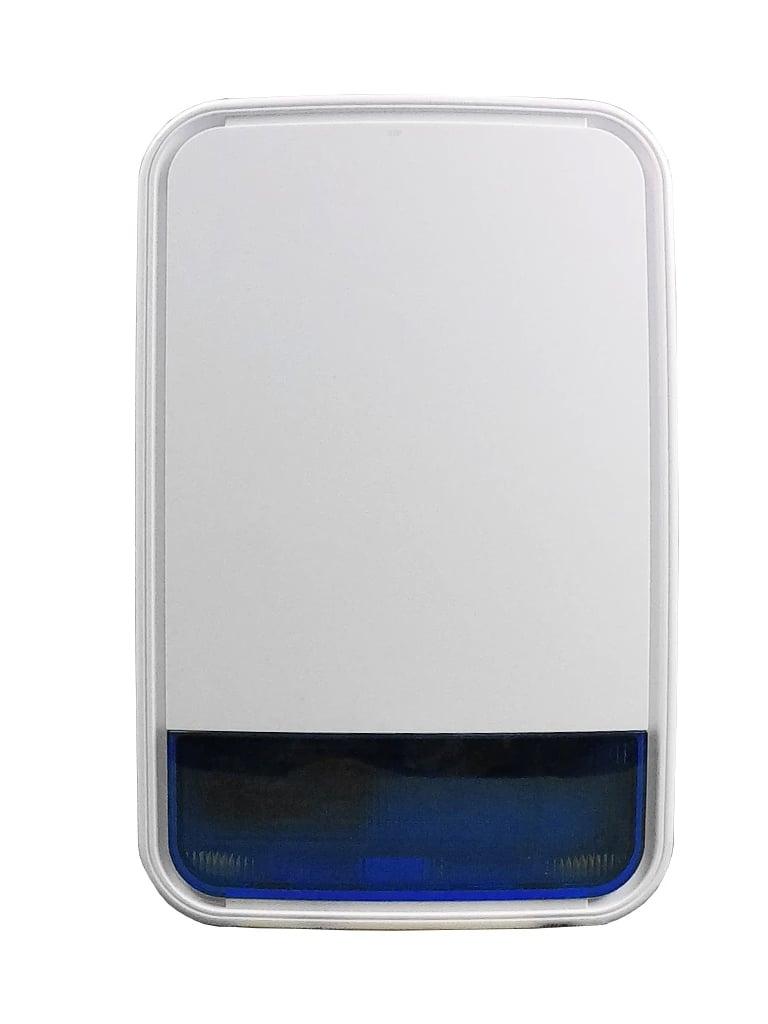 DSC PG9911BBATT - NEO PowerG Sirena Exterior Inalámbrica 110dB con luz estroboscópica y Batería para NEO