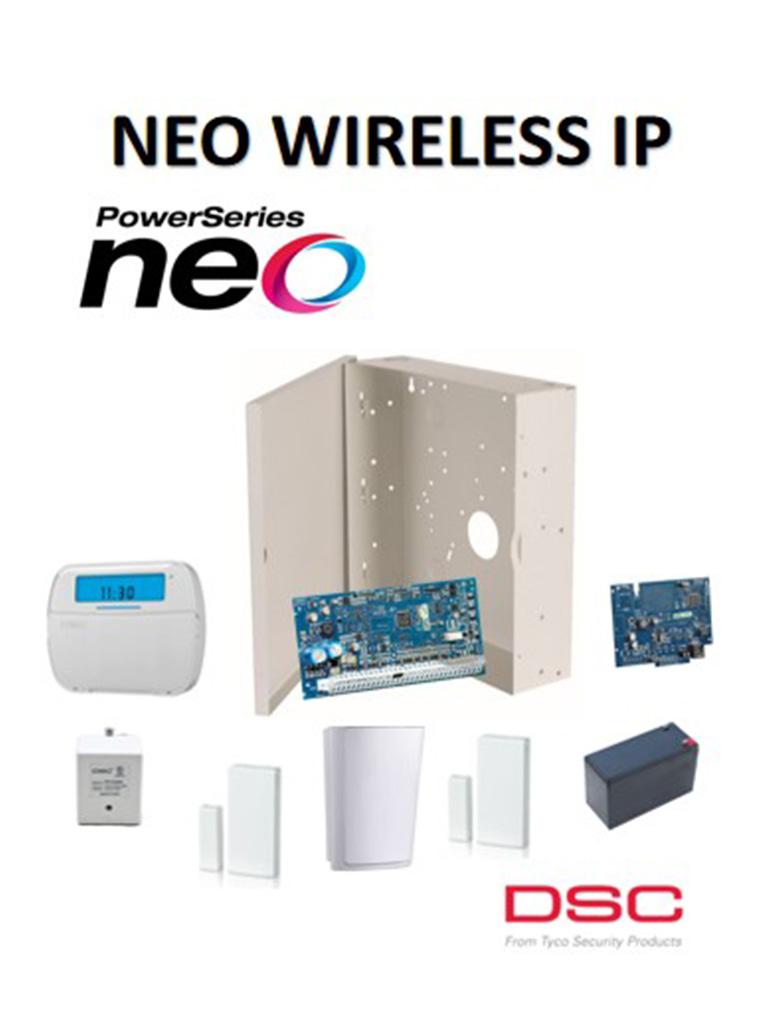 DSC NEOWIPPAQ - Paquete de Alarma Neo Inalámbrica IP