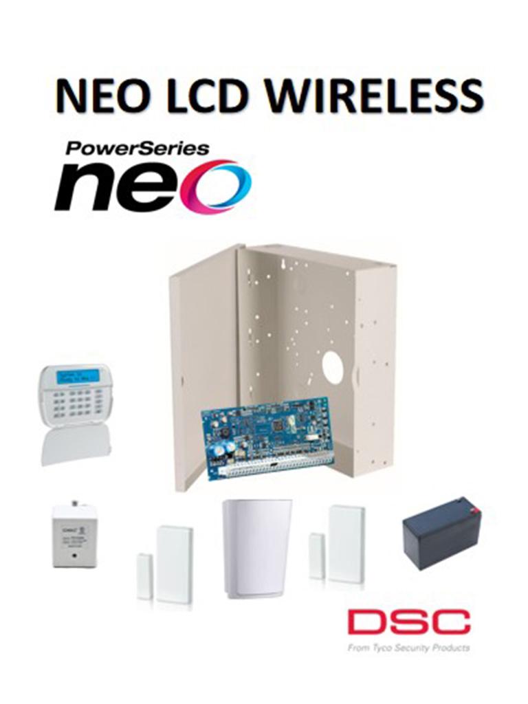 DSC NEOLCDWPAQ - Paquete NEO LCD Alfanumérico Inalámbrico