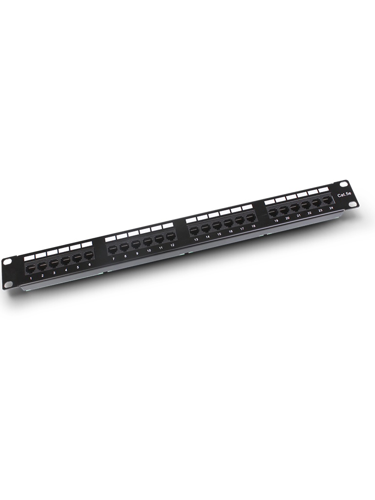 SAXXON P19724N5 - Patch Panel 24 puertos / CAT 5E / 19 Pulgadas / Montaje en rack / 2U