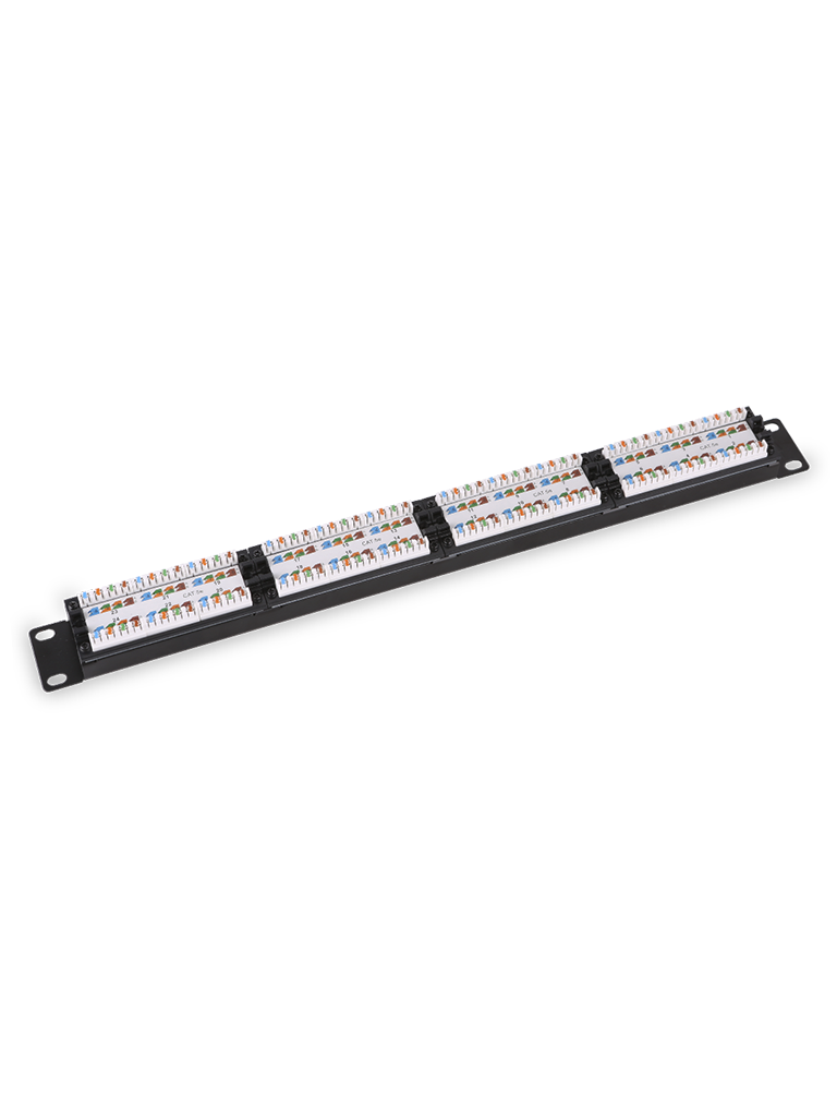 SAXXON P19748N5 - Patch Panel 48 puertos / CAT 5E / 19 Pulgadas / Montaje en rack / 2U