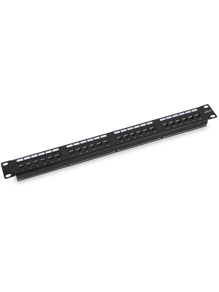 SAXXON P19724N6 - Patch Panel 24 puertos / CAT 6 / 19 Pulgadas / Montaje en rack / 1U