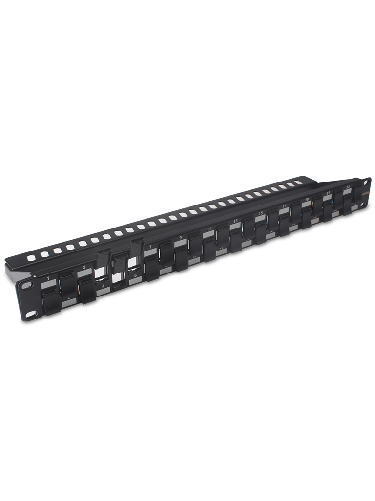 TVC P20224C6A - PATCH PANEL 24 PUERTOS /CAT 6A/ 19 PULGADAS/MONTAJE EN RACK