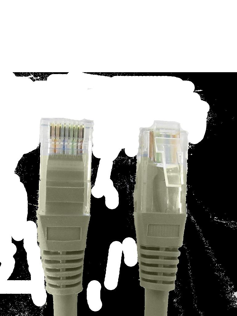 SAXXON P5E1UG - Cable patch cord UTP 1 metro / CAT 5E / Color gris
