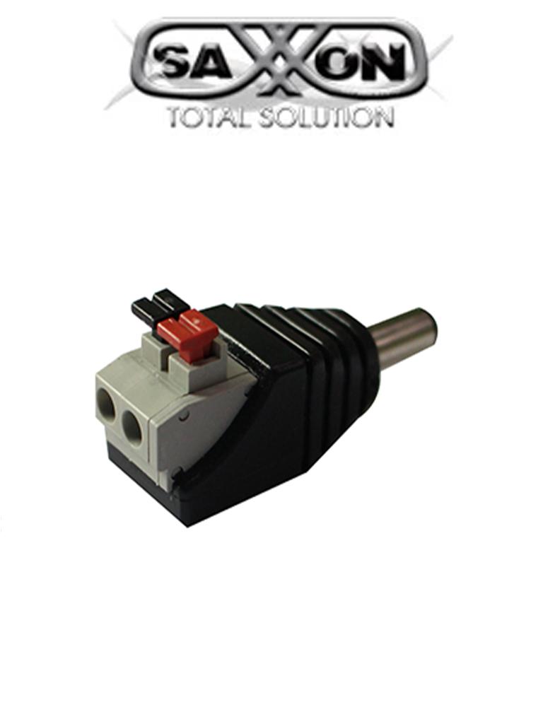 SAXXON PSUBR16H - Bolsa de 10 adaptadores tipo jack macho polarizado de 12 VCD/ Con terminales de presion/  Facil conexion