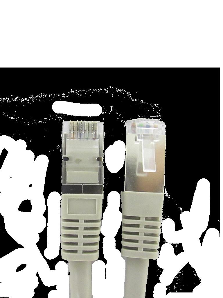 SAXXON P5E3SG - Cable patch cord UTP 3 metros / CAT 5E / Blindado / Color gris