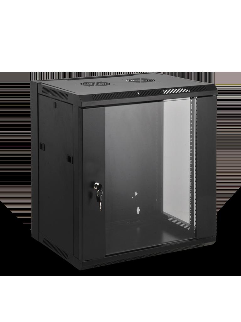 SAXXON SE541201 - Gabinete de pared / 12 UR / Fijo / Capacidad de carga de 60  Kg / Ancho 570 mm x profundidad 450 mm x alto 635 mm