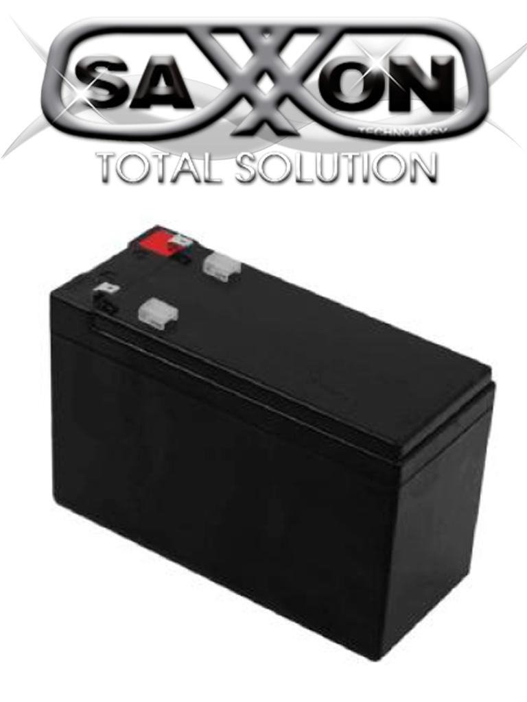 SAXXON CBAT7AH- BATERIA DE RESPALDO DE 12VOLTS LIBRE DE MANTENIMIENTO Y FACIL INSTALACION/ 7 AMPER HORA