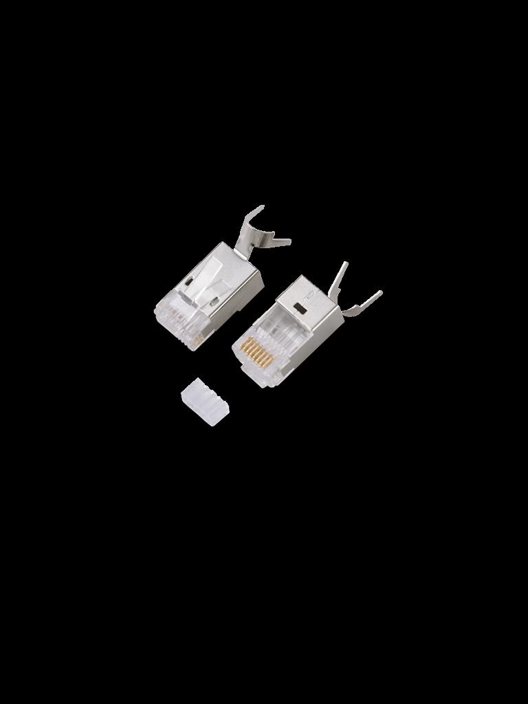 TVC S901H - CONECTOR PLUG RJ45 PARA CABLE UTP/ CAT 6A/ BLINDADO/ PAQUETE 100 PZAS