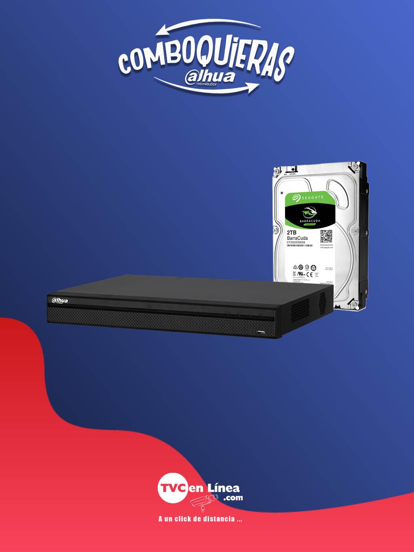 DAHUA COMBOQUIERAS10 - LLEVATE El disco duro BARRACUDA de 2TB a precio especial en la compra de un DVR de 16 canales modelo DAD509001