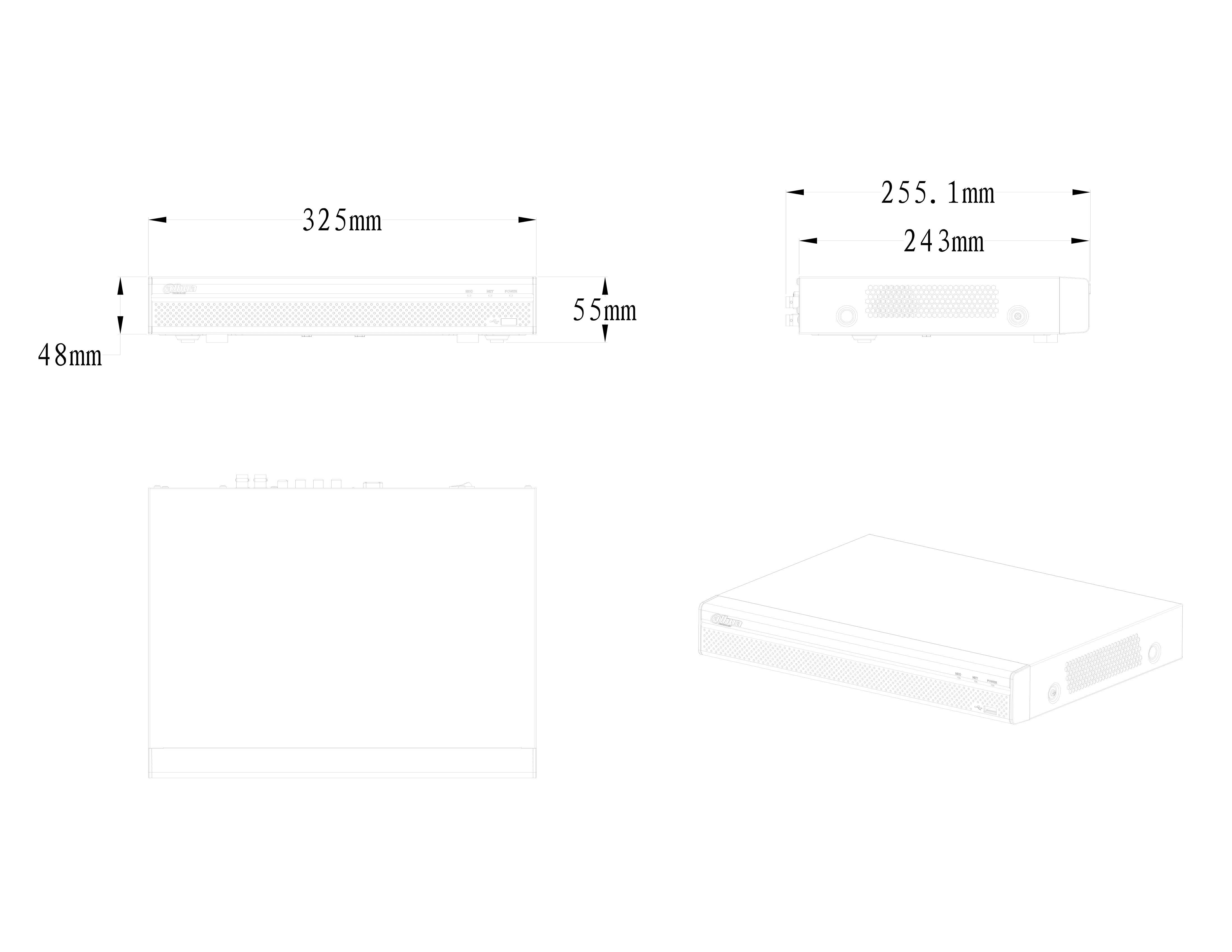 XVR5108-5116H-I_Dimension_20190520-1