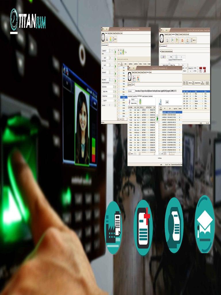 ZKACCESO TITANIUM4P - Licencia para control de asistencia con modulo de recursos humanos 1500 empleados 32 terminales  / Permanente (PC o reloj)