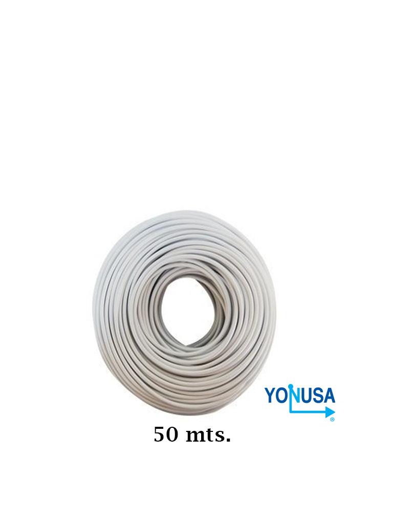 YONUSA CDA50 - Bobina de cable bujia con doble aislado de 50 mts para cercas electricas/ calibre 22 AWG