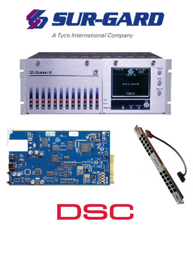 DSC Kit SGSIII-2L - Kit Surgard System III + 2 Tarjetas de Línea Telefónica.