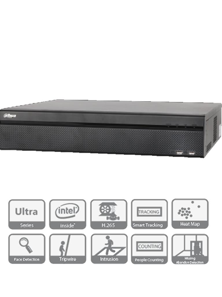 DAHUA NVR608324KS2- NVR 32 CANALES IP 4K/ H265/ RENDIMIENTO 384MBPS/ 2 HDMI/ VGA/ SOPORTA 8 HDD/ P2P/ ONVIF / SMART TRACKING