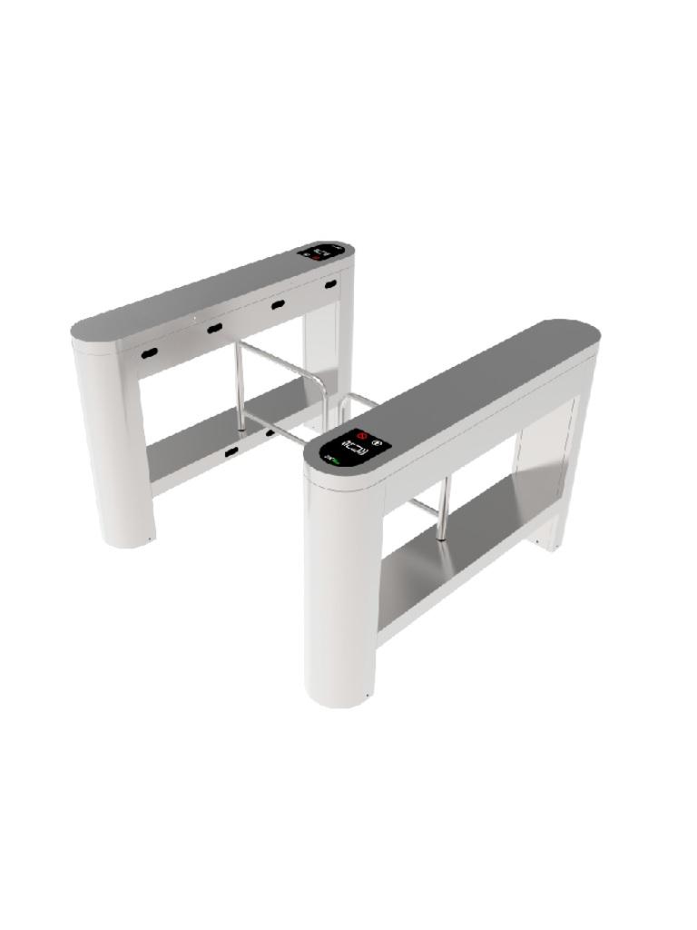 ZKTECO PROENTRANCE SB01FP - Swing Barrier de Acero Inoxidable/ 30 personas por minuto /RFID + FP /Viene con 2 lectores de Huella FR1500 y un panel inBio206 Pro /Una Linea