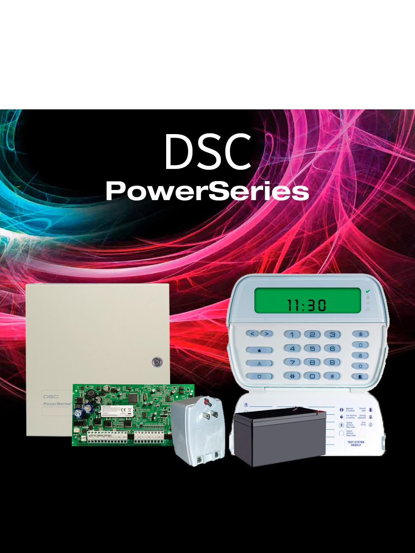 DSC POWER-ICON- Paquete Power con panel PC1832/ 8 zonas cableadas expandible a 32/ Teclado ICON PK5501 /Gabinete Metálico / Fuente de Poder / Batería 7AH /
