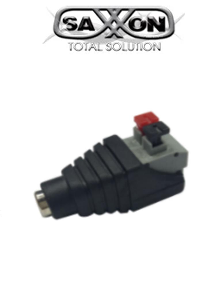 SAXXON PSUBR17H - Bolsa de 10 adaptadores tipo jack hembra polarizado de 12 VCD/ Con terminales de presion/ Facil conexion