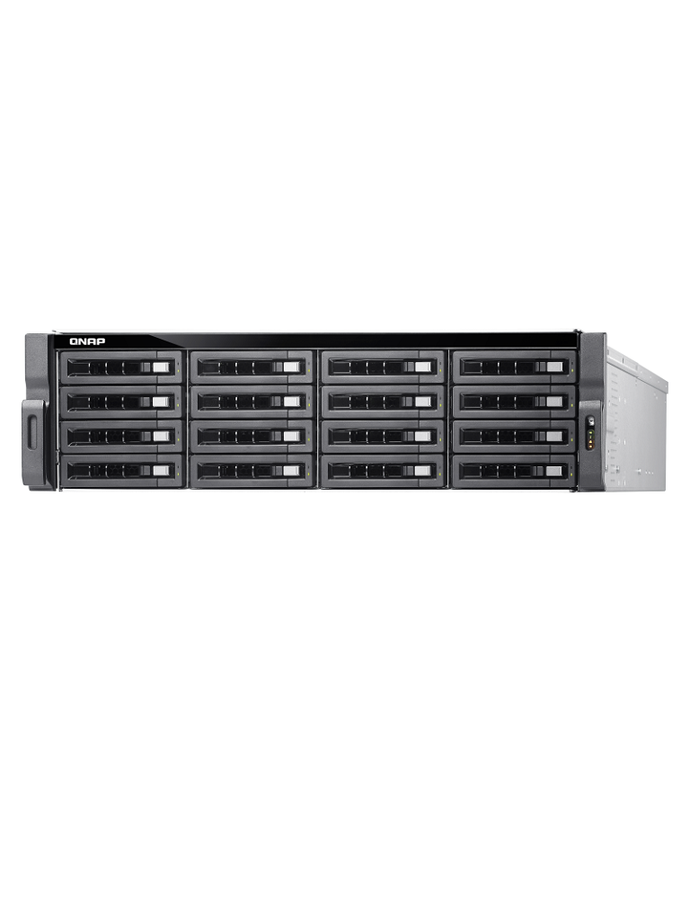 QNAP TDS16489USF3R2 - Servidor NAS 16 bahias / INTEL XEON E5 2.2GHZ 10 CORE / 256GB RAM DDR4 / 4 Puertos  10GbE / Fuente redundante