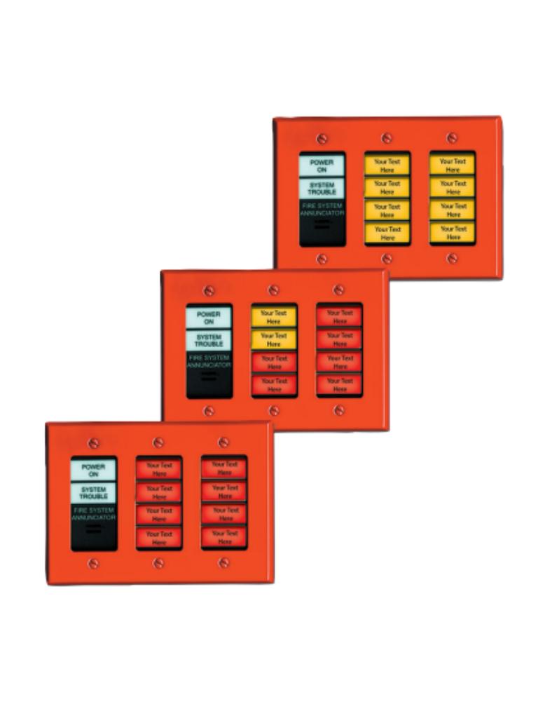 BOSCH F_D7030X - Anunciador con 8  LED que indican condiciones de alarma por zonas