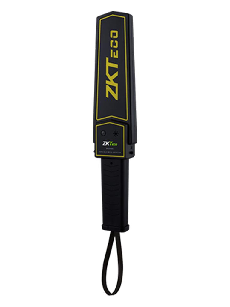 ZKTECO D100S - Detector de Metal Portátil/ 9 VCD/ Alarma Audible y de Luz/ Intensidad de 75 dB
