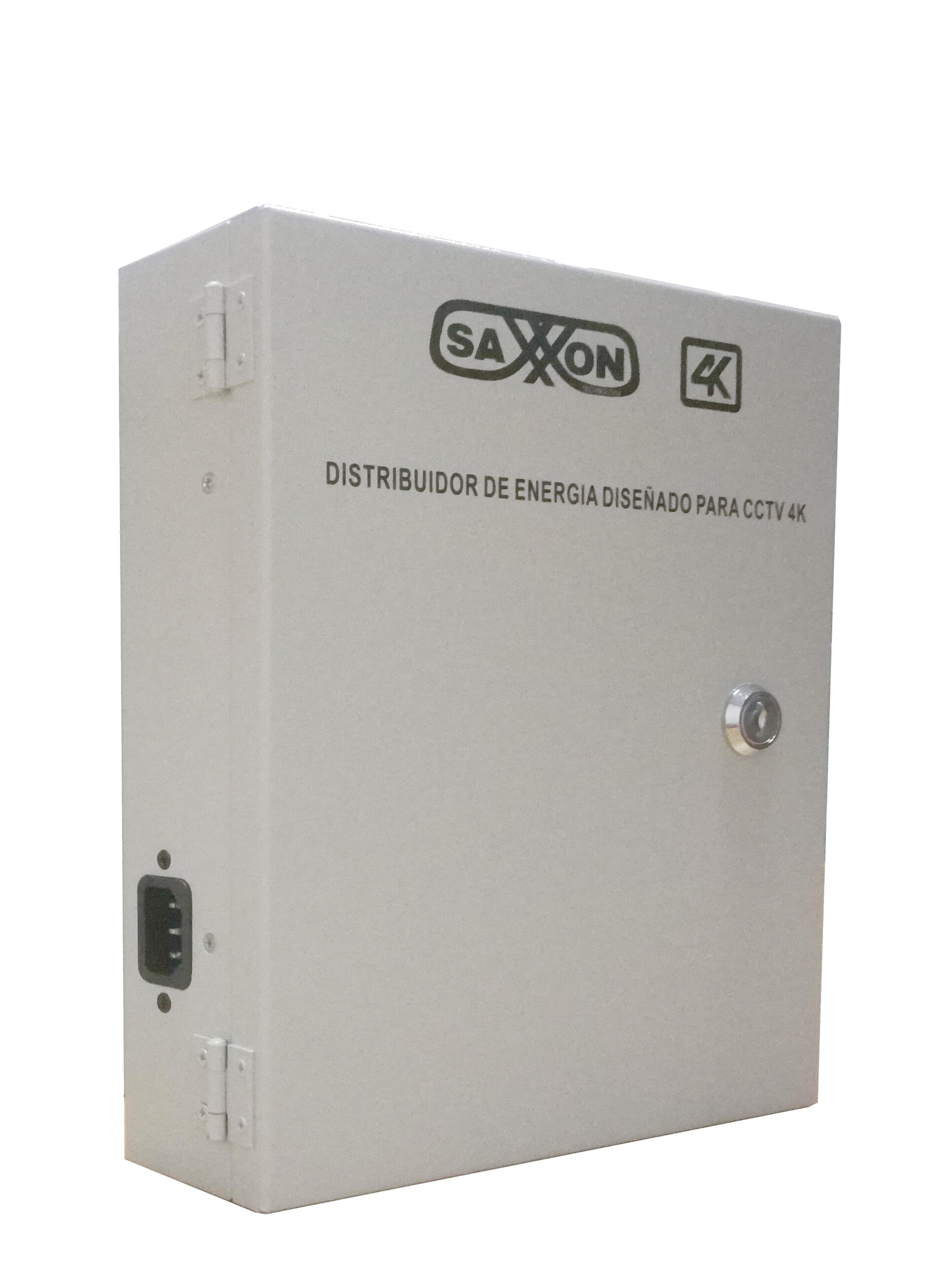 SAXXON PSU1213D8H- Fuente de poder de 11 a 15 VCD/ 13 Amperes/ Distribuidor para 8 camaras/ Ideal para camaras 4K/ 4MP/ Filtro de ruido por canal/ 1.6 AMP por canal