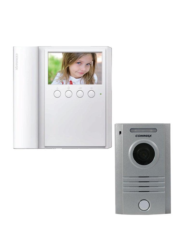 COMMAX CMV43PAQ - Frente de calle modelo DRC40K para exteriores con luz led y monitor CMV43A de 4.3 pulgadas con auricular/ Apertura de puerta