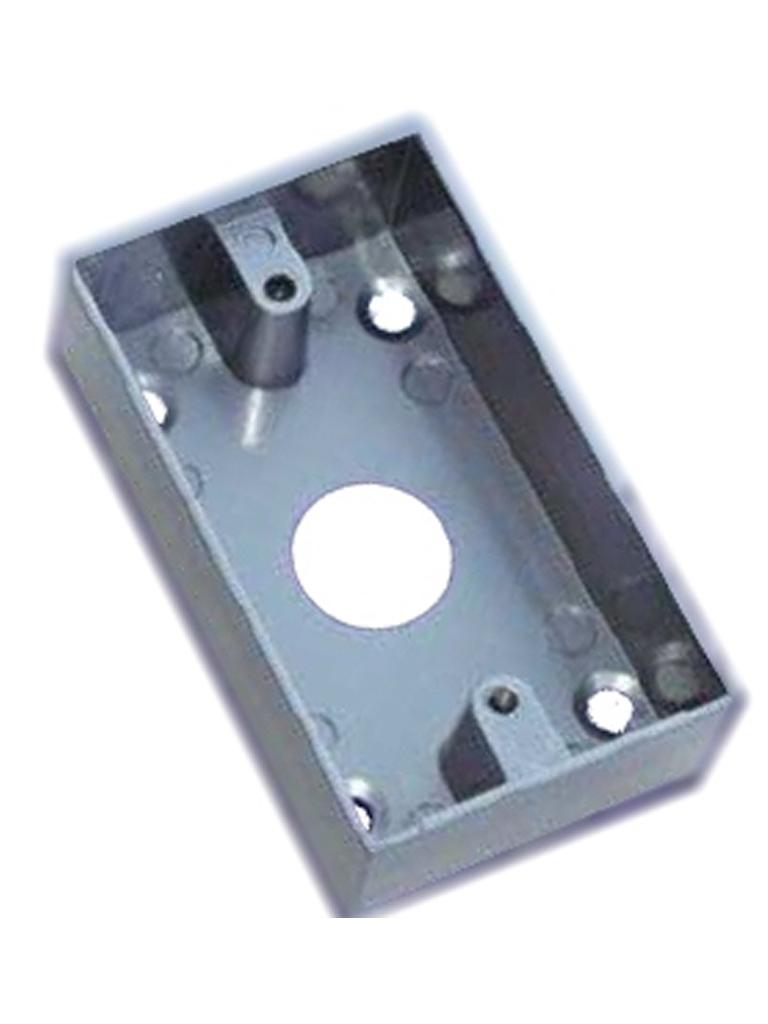 YLI MBB800AM - Caja para instalacion de boton liberador de puerta tipo americano/ Metal/ Compatible con boton claves 77006 - YLI475001