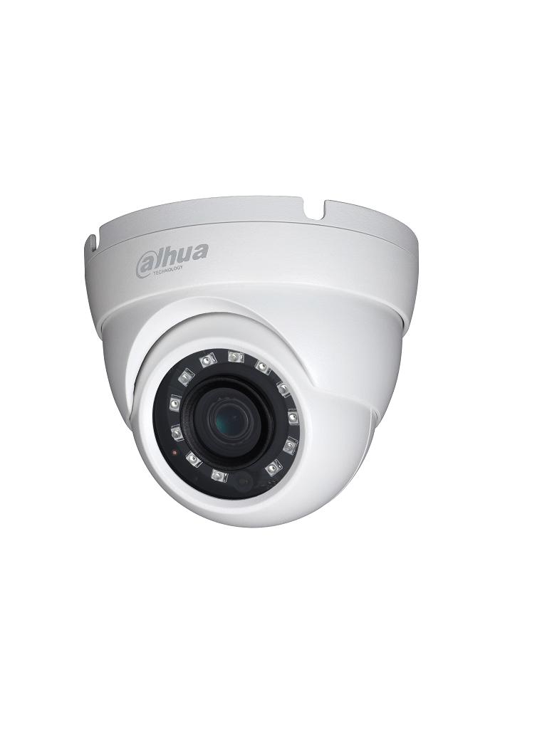 DAHUA HDW1400M36 - Camara domo  HDCVI 4 megapixeles / CVBS / Lente 3.6 mm / Ir 30M / DWDR / IP67 / BLC / AGC / Metalica