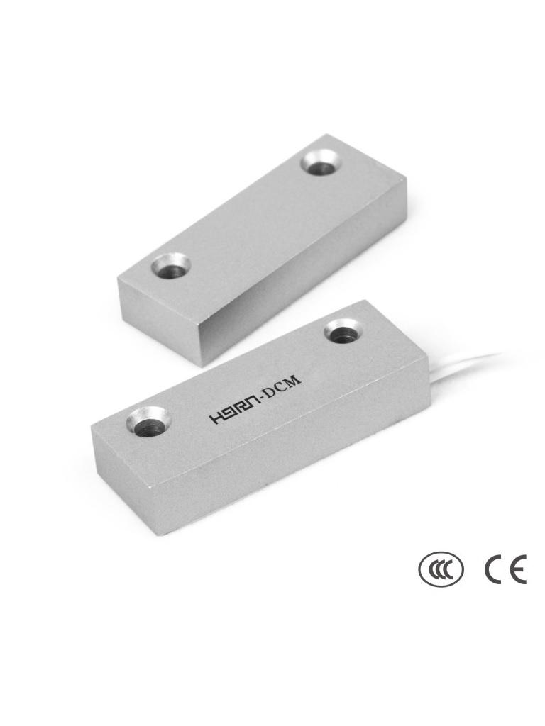 HORN HO03F - Contacto Magnético Alámbrico de Metal. Compatible Con DSC / RISCO / IHORN / Salida N.C.