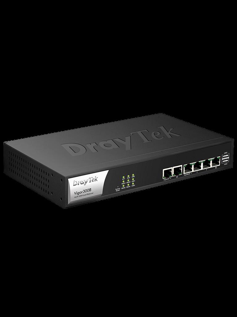 DRAYTEK VIGOR300B- Ruteador Multi WAN/ 4 Puertos Gigabit WAN/ 2 Gigabit LAN/ Soporta IPv6