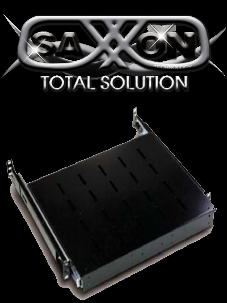 SAXXON 70033501- Charola para gabinete/ Deslizable para teclado/ Color negro/ Medidas 440 mm de ancho x 350 mm de profundidad