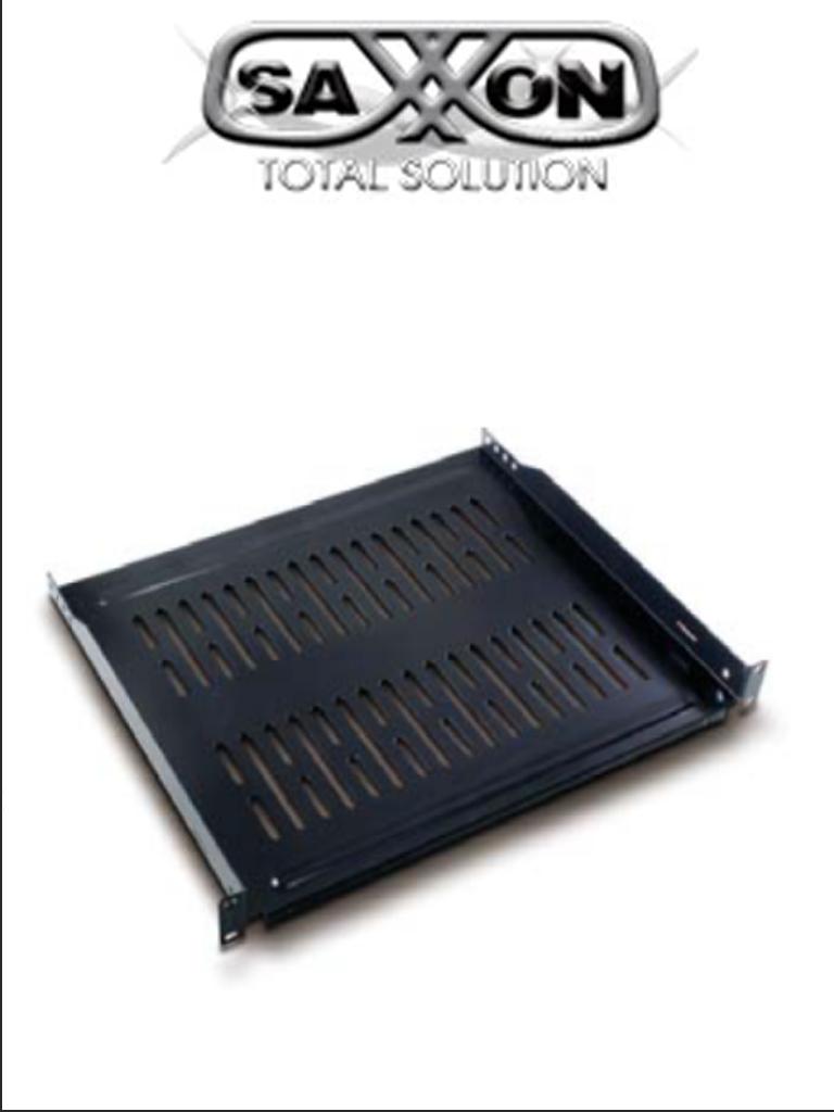 SAXXON 70140204- Charola ventilada para monitor/ Medidas 19 de ancho x 14 pulgadas de profundidad/ 2 UR/ Soporta 22 KG/ Acero