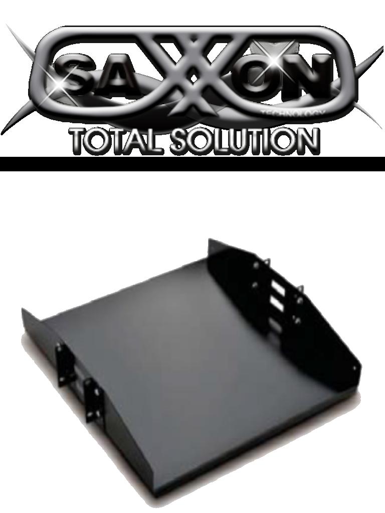 SAXXON 70140202- Charola doble cara para rack/ 19 pulgadas/ 2 UR/ Soporta hasta 50 KG