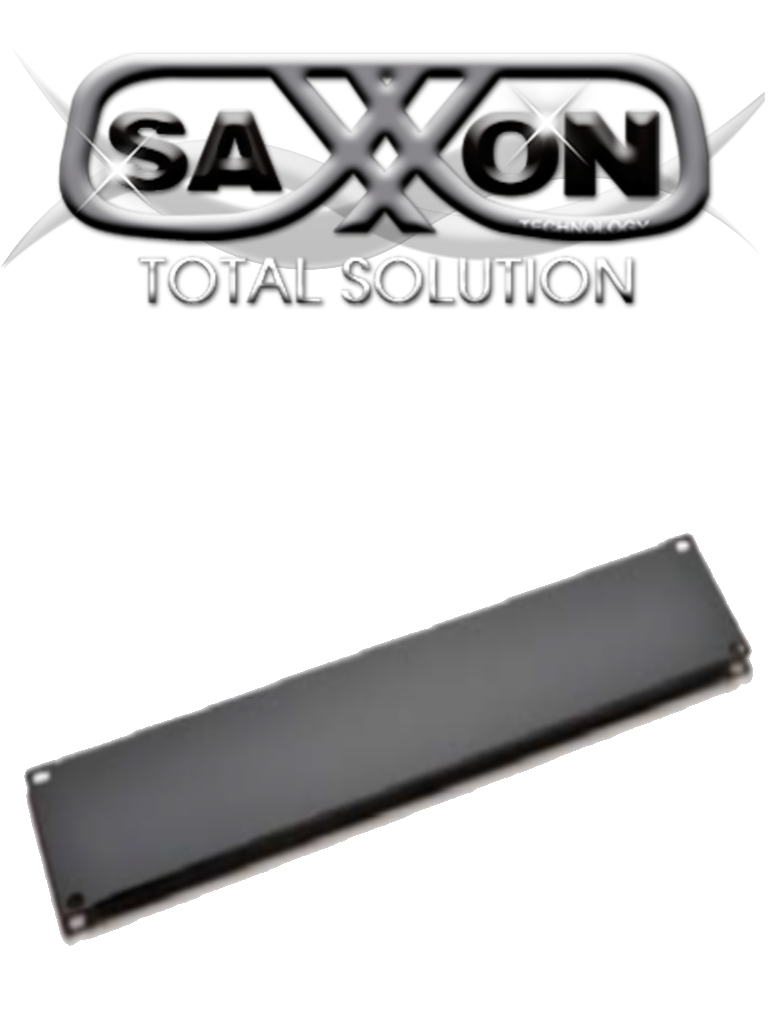 SAXXON 70060100- Placa ciega de 1 unidad de rack/ Medidas de 482 mm de ancho (19 ) x 44 mm de profundidad/ Metalica