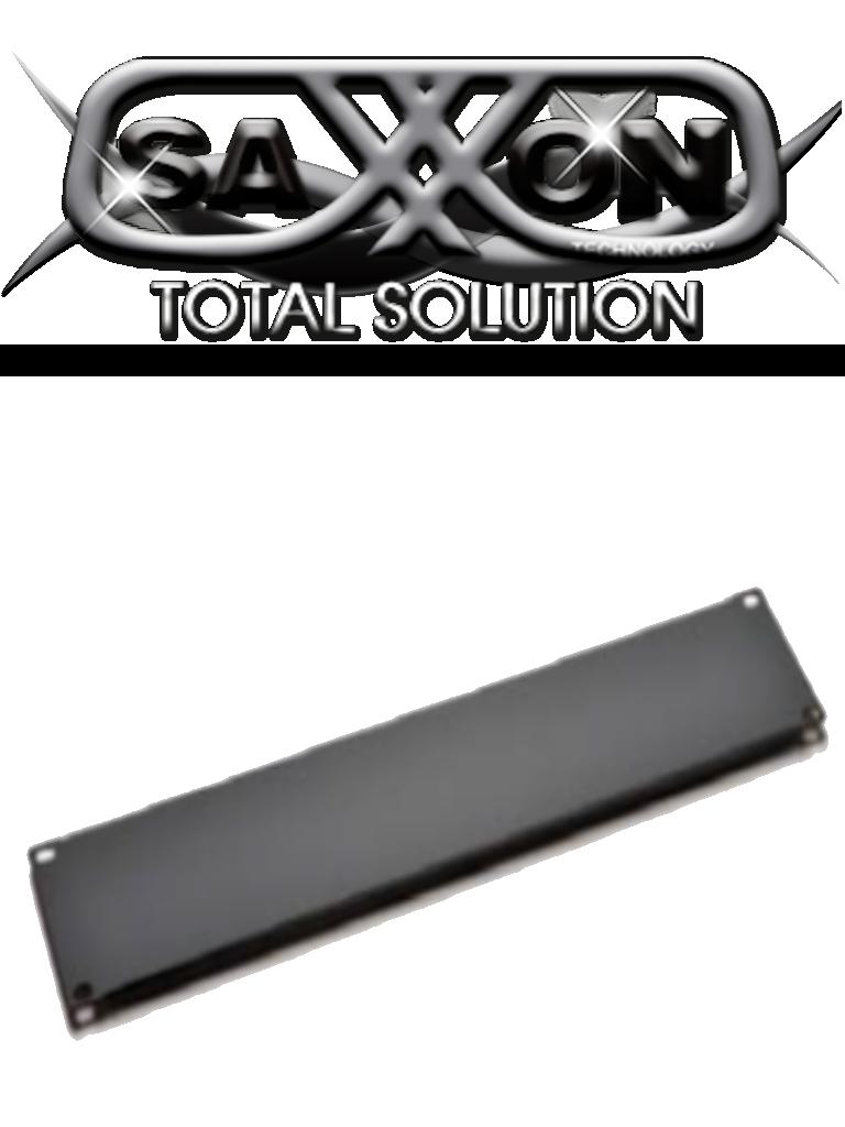 SAXXON 70060200- Placa ciega de 2 unidades de rack/ Medidas de 482 mm de ancho (19 ) x 88 mm de profundidad/ Metalica