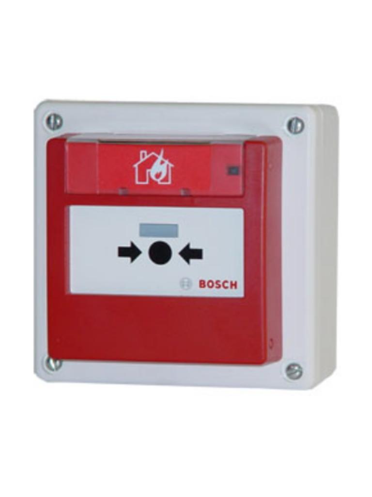 BOSCH F_FMC420RWHSRRD - Pulsador de alarma de incendio para exterior / Opcion de REARME / Rojo