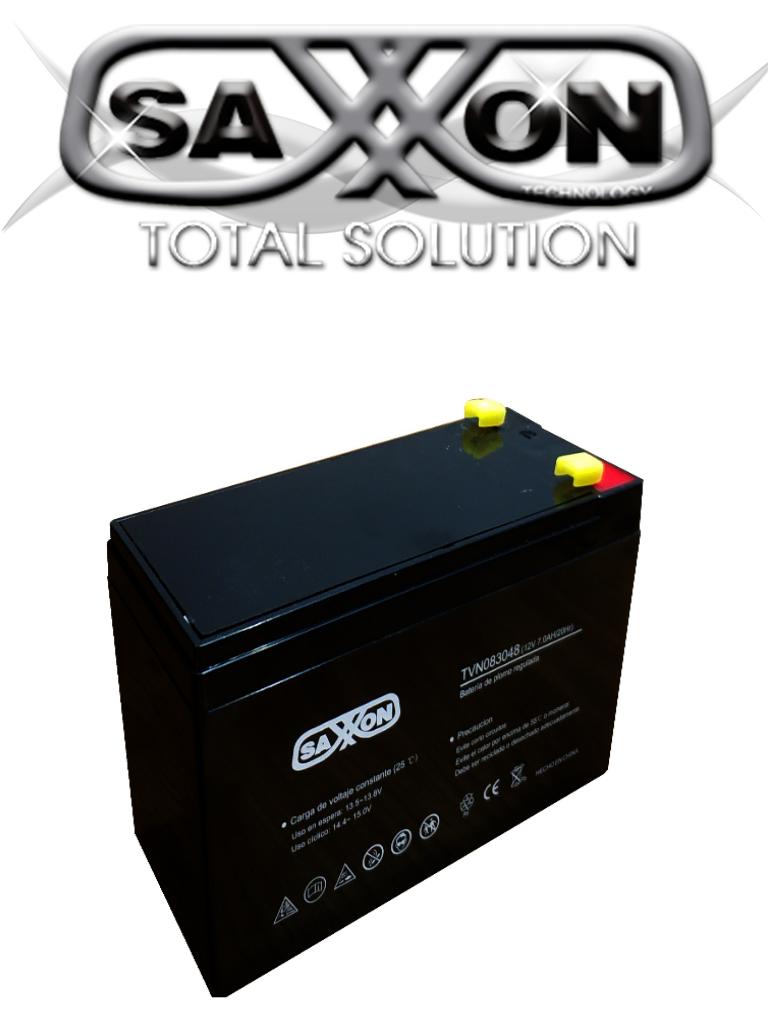 SAXXON CBAT7AH - Bateria de respaldo de 12 volts libre de mantenimiento y facil instalacion / 7 AH/ compatible DSC/ CCTV/ Acceso