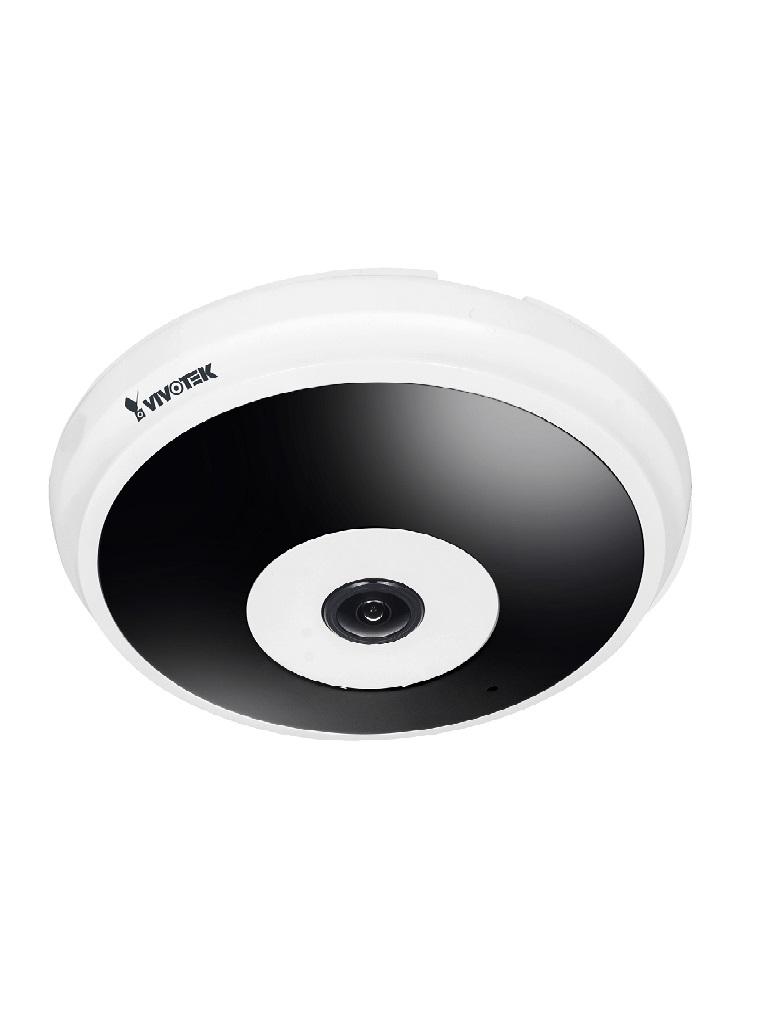 VIVOTEK FE9182H - Camara IP FISHEYE interior / 5M / H.265 / Ir 20M / Vision hemisferica 360 / Smart stream ii / WDR Pro / 3DNR / Audio / # Irresistibles