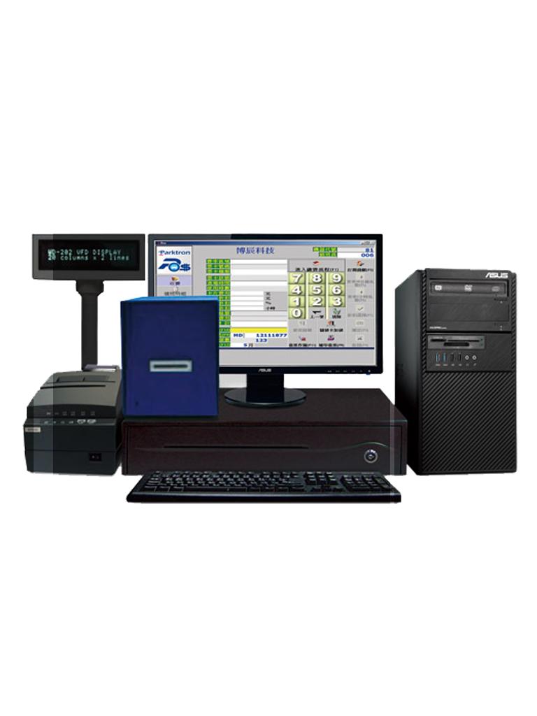 PARKTRON BCST219C - Estacion de cobro manual para sistema de cobro de estacionamientos con tecnologia de tickets con codigos QR/ Descuentos/ Reportes/ No incluye PC