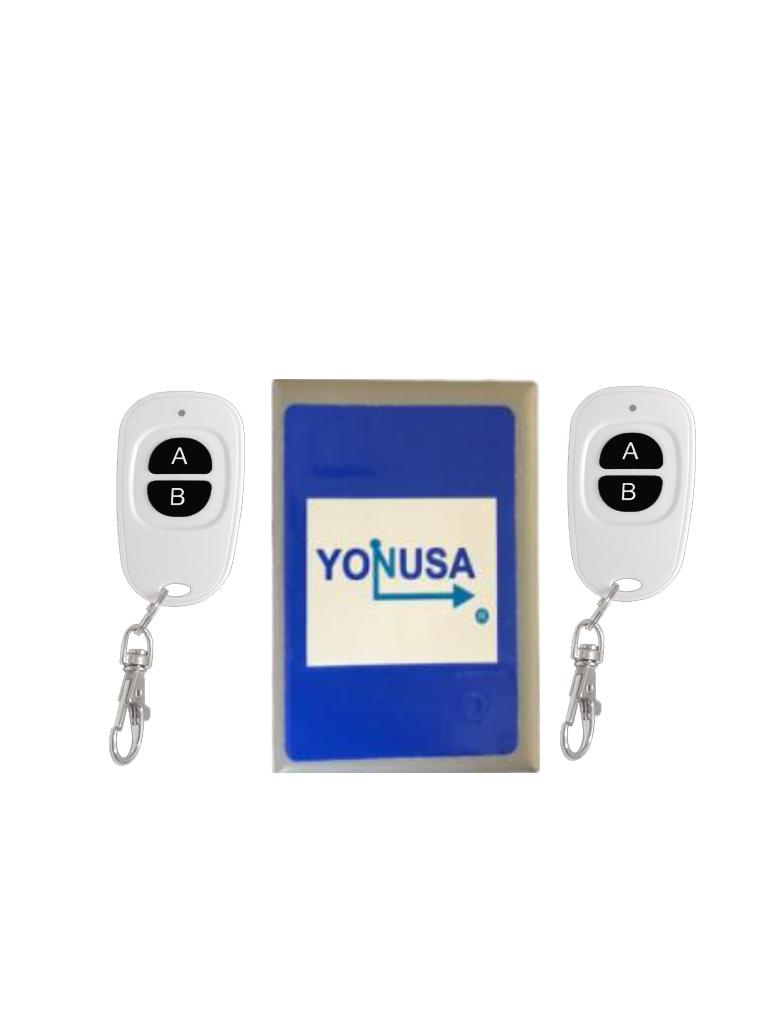 YONUSA KL2V2 -  Modulo de mando receptor y dos transmisores compatible con todos los energizadores Yonusa, conexion sencilla, armado y desarmado de cerco electrico