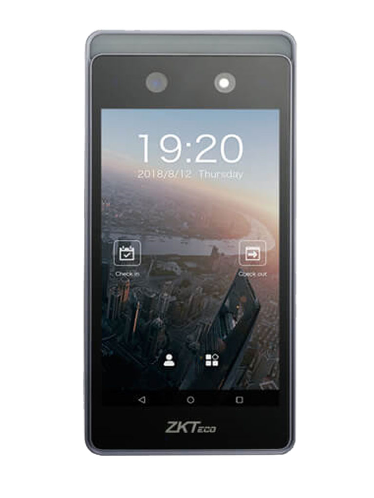 ZK HORUS -  Control de asistencia de reconocimiento facial / 6000 Rostros / 4G / Conexión de energía tipo europeo