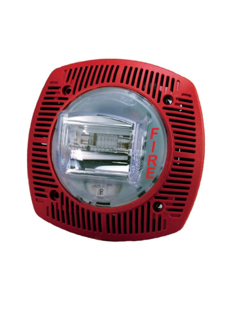 BOSCH F_ GSSPK24WLPR - Altavoz ESTROBO de montaje en pared color rojo certificacion UL