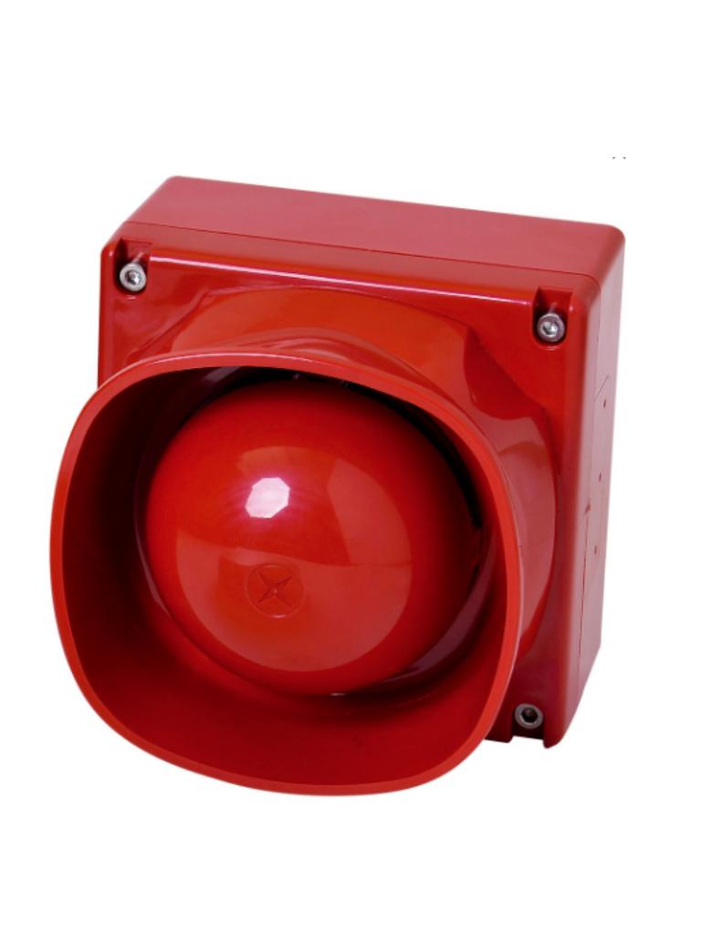 BOSCH F_FNM420BRD - Sirena para exterior / Color roja / LSN I MPROVED / Hasta 102  dB volumen
