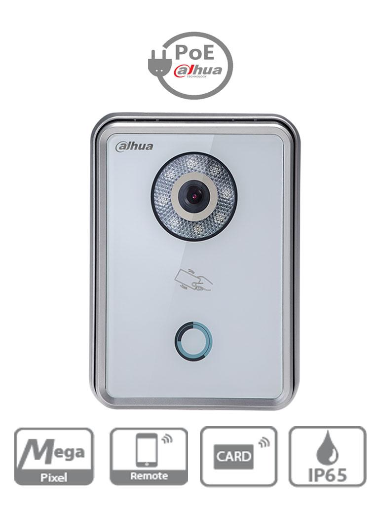 DAHUA VTO6210BW - Frente de calle IP blanco / Apertura remota con funcion P2P / Vision nocturna /  IP65 / Soporta 5 monitores / Llamadas en grupo