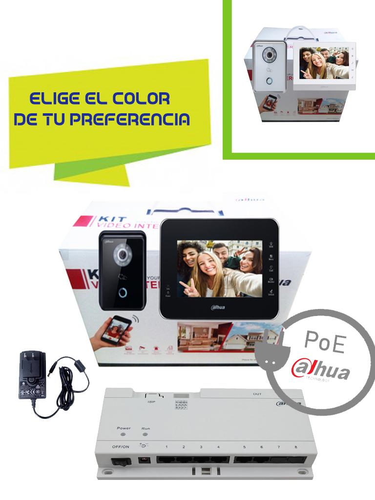 DAHUA KITVTH1560B6210BPAK - Videoportero con frente de calle IP VTO6210B / Switch  PoE & fuente de 24V