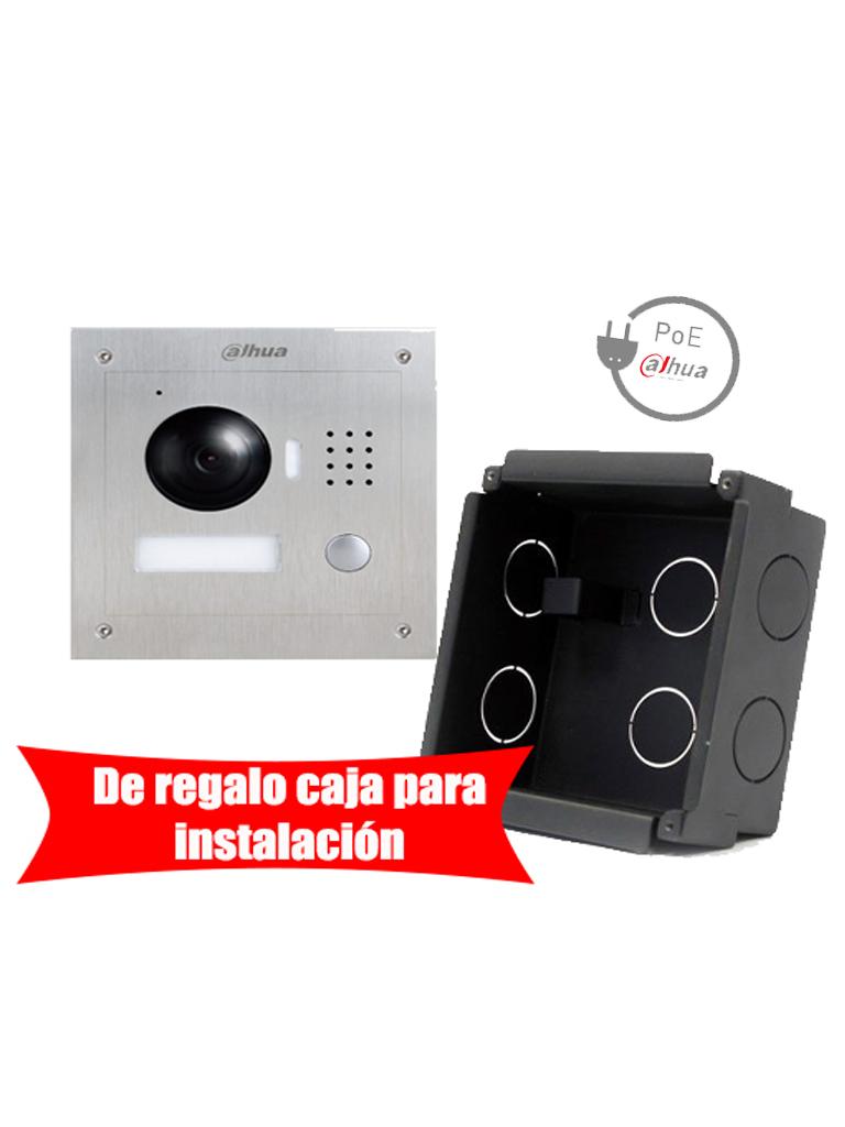 DAHUA VTO2000APAK - Frente de calle IP antivandalico / Gratis caja para instalacion VTOB107