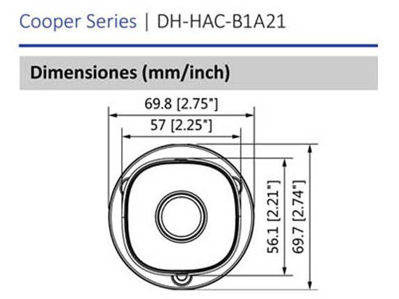 Dimensiones_DAHUA COOPER B1A21_Vista Frontal_400 x 430
